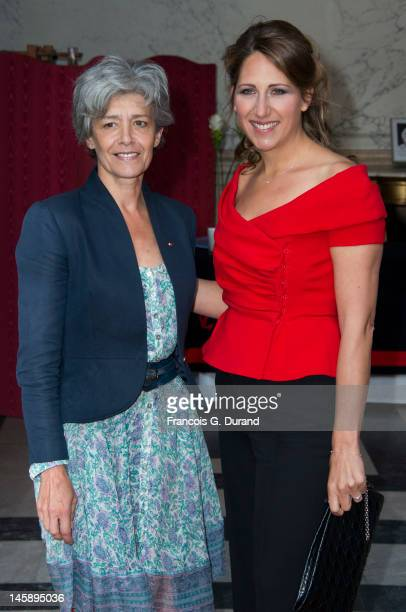 Maud Fontenoy and Claudie Haignere arrive at the Maud Fontenoy Foundation Annual Gala at Hotel de la Marine on June 7 2012 in Paris France