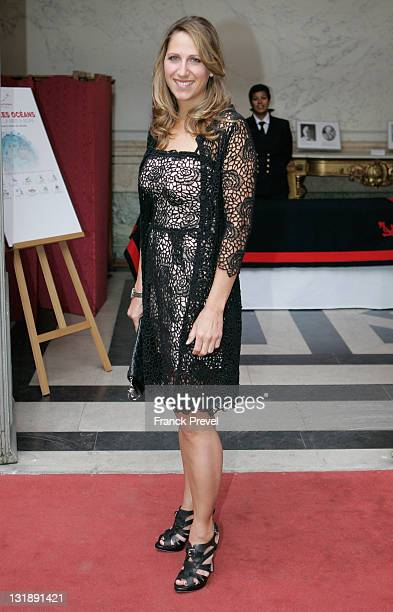 Maud Fontenoy attends 'Maud Fontenoy Foundation' Gala at Hotel de la Marine on June 8 2011 in Paris France