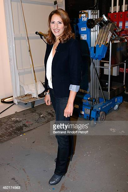 Maud Fontenoy attends 'Vivement Dimanche' French TV Show at Pavillon Gabriel on November 26 2013 in Paris France