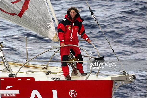 Maud Fontenoy Before His World Tour To Sail Solo And Cons Current On September 082006 Maud Fontenoy before his world tour to sail solo and cons...