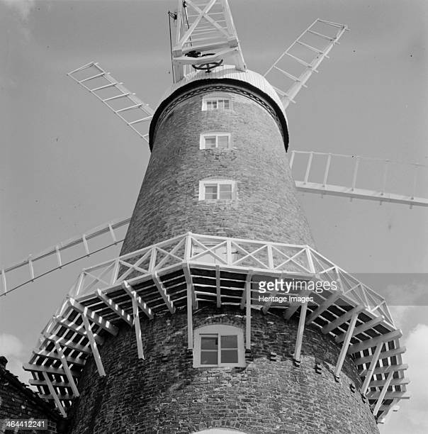 Maud Foster Mill Boston Lincolnshire c1945c1980 The Maud Foster Mill in Boston is a six storey brick tower mill with five sails The wooden balcony on...