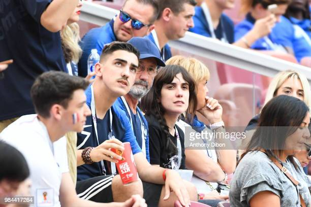 Maud Griezmann sister of Antoine Griezmann during the FIFA World Cup Group C match between Denmark and France at Luzhniki Stadium on June 26 2018 in...