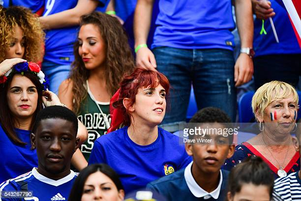 Maud Griezmann sister of Antoine Griezmann of France during the European Championship match Round of 16 between France and Republic of Ireland at...