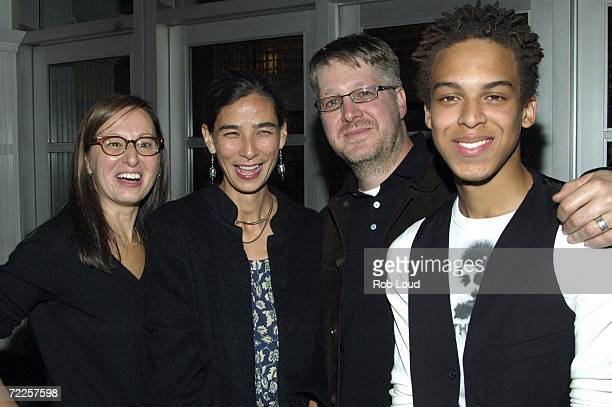 Maud Nadler of HBO writer Hannah Weyer producer Paul Mezey and actor Jonan Everett attend the after party for the premiere of Angel Rodriguez at Remi...