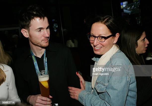Maud Nadler vice president HBO Films and director Ryan Fleck attend the Picturehouse Party at Zoom restaurant during the 2006 Sundance Film Festival...