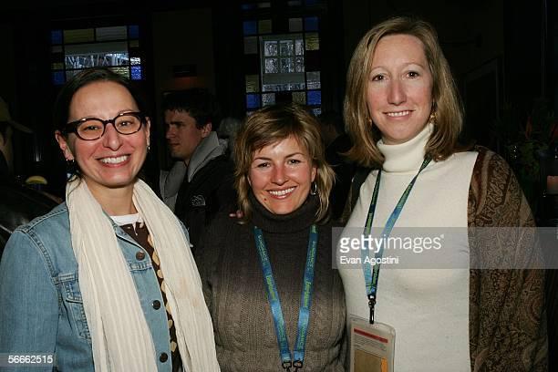Maud Nadler vice president HBO Films Jenni Sherwood VP Development and Production HBO Film and Keri Putnam executive vice president HBO attend the...