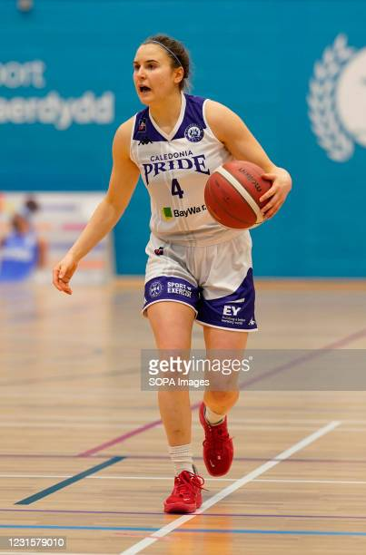 Maud Ranger seen in action during the Women's British Basketball League match between WBBL Cardiff Archers and Caledonia Pride at Cardiff Archers...