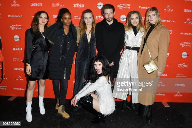 Maude Apatow Abra Odessa Young Bella Thorne Director Sam Levinson Suki Waterhouse and Hari Nef attend the 'Assassination Nation' Premiere during the...