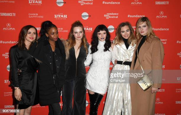 Maude Apatow Abra Odessa Young Bella Thorne Suki Waterhouse and Hari Nef attend the 'Assassination Nation' Premiere during the 2018 Sundance Film...