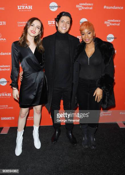 """Maude Apatow, Danny Ramirez, and Anika Noni Rose attend the """"Assassination Nation"""" Premiere during the 2018 Sundance Film Festival at Park City..."""