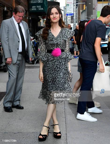 "Maude Apatow is seen outside ""The Late Show with Stephen Colbert"" on July 29, 2019 in New York City."