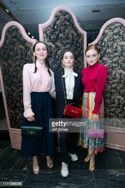 Maude Apatow Kaitlyn Dever and Sadie Sink attend Gucci Hosts Private Event To Celebrate The Gucci Zumi Handbag Collection on September 26 2019 in...