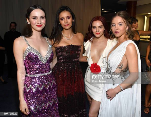 Maude Apatow Nina Dobrev Madeline Brewer and Sydney Sweeney attendsThe 2020 InStyle And Warner Bros 77th Annual Golden Globe Awards PostParty at The...