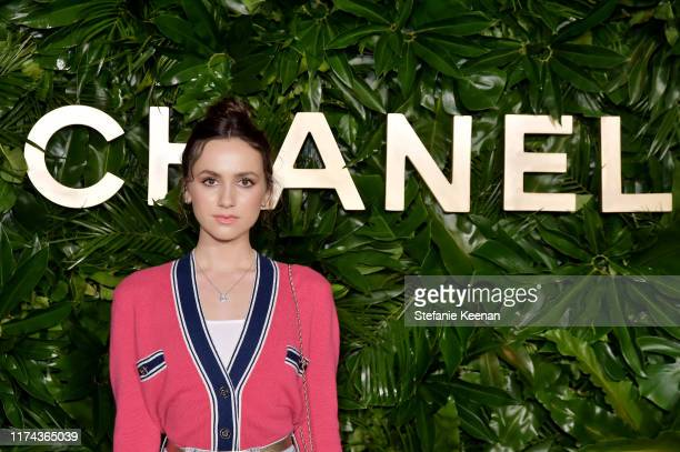 Maude Apatowwearing CHANEL attends Chanel Dinner Celebrating Gabrielle Chanel Essence With Margot Robbie on September 12 2019 in Los Angeles...