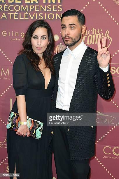 Maude Harcheb and Alban Bartoli attend the 'Gold Prix De La TNT' Award Ceremony at Theatre Bobino on June 6 2016 in Paris France