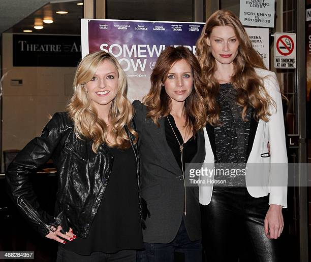 Maude Hirst Jessalyn Gilsig and Alyssa Sutherland attend the 'Somewhere Slow' Los Angeles opening night screening at Arena Cinema Hollywood on...