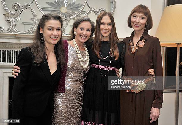 Maude Maggart Andrea Marcovicci Lauren Fox and Karen Akers attend the Andrea Marcovicci Cabaret Opening Night at Cafe Carlyle on October 2 2012 in...