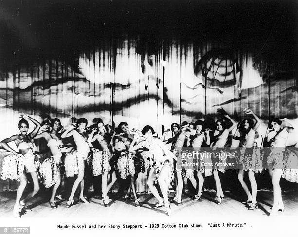 Maude Russel and her Ebony Steppers at the Cotton Club, in the show 'Just a Minute'.