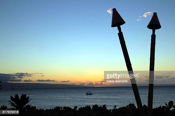 maui, hawaii tropical sights - hawaiian waterfalls stock pictures, royalty-free photos & images