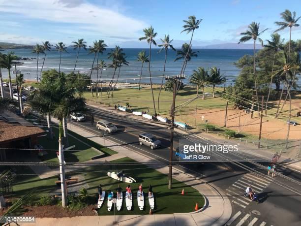 maui south shore scene 2 - editorial only - only men stockfoto's en -beelden