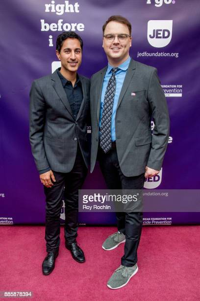 Maulik Pancholy and Howard Emanuel attend the 'Right Before I Go' Benefit performance at Town Hall on December 4 2017 in New York City