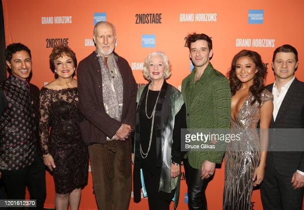 Maulik Pancholy Priscilla Lopez James Cromwell Jane Alexander Michael Urie Ashley Park and Ben McKenzie pose at the opening night after party for the...
