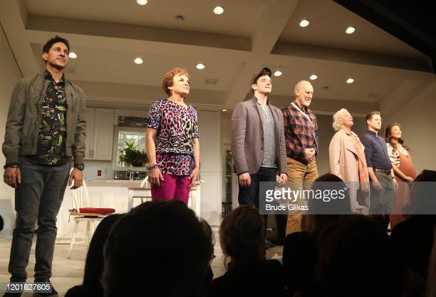 Maulik Pancholy Priscilla Lopez Michael Urie James Cromwell Jane Alexander Ben McKenzie Ashley Park during the opening night curtain call for the new...
