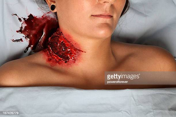 mauling blood pool - murdered women stock pictures, royalty-free photos & images