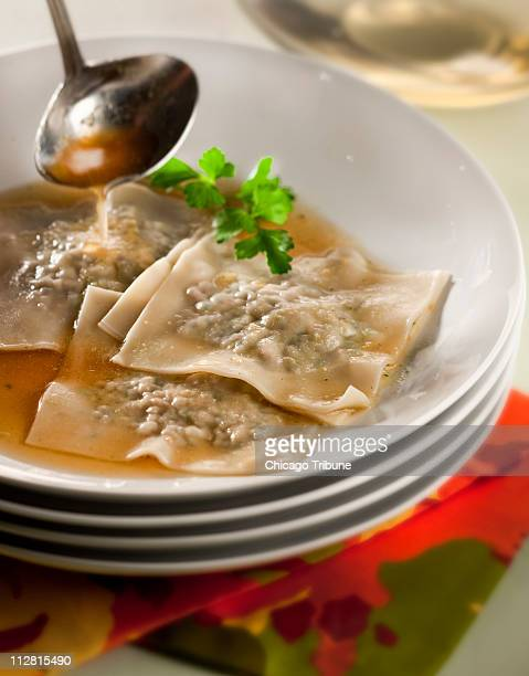 Maultaschen dumplings filled with beef and spinach is among the top recipes from the pages of the Chicago Tribune food section for 2010