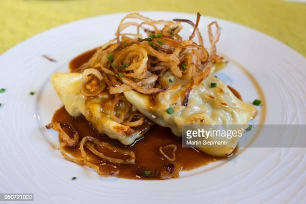 Maultaschen, Swabian pasta specialty, Swabia, Baden-Wuerttemberg, Germany