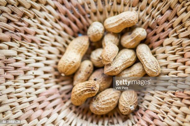 Maun Botswana Africa Peanuts in a handwoven bowl