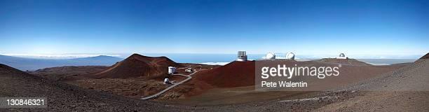mauna kea observatory, mauna kea, shield volcano, big island, hawaii, usa - hawaii inselgruppe stock-fotos und bilder