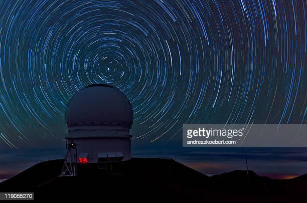 Mauna Kea Star Trails with Canada-France telescope