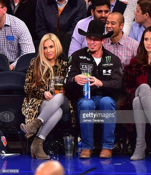 B Mauney attends the Boston Celtics vs New York Knicks game at Madison Square Garden on January 12 2016 in New York City