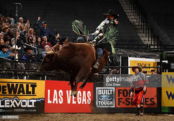 B Mauney competes in the PRB Frontier Communications Sacramento Clash at Golden 1 Center on January 27 2017 in Sacramento California