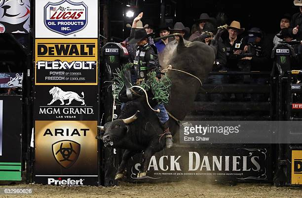 B Mauney competes in the PRB Frontier Communications Sacramento Clash at Golden 1 Center on January 28 2017 in Sacramento California