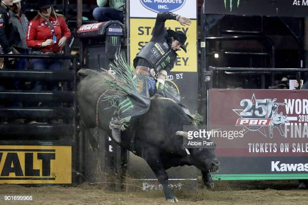 B Mauney rides All The Way Up during day 1 of the Monster Energy Buck Off at the Garden at Madison Square Garden on January 5 2018 in New York City