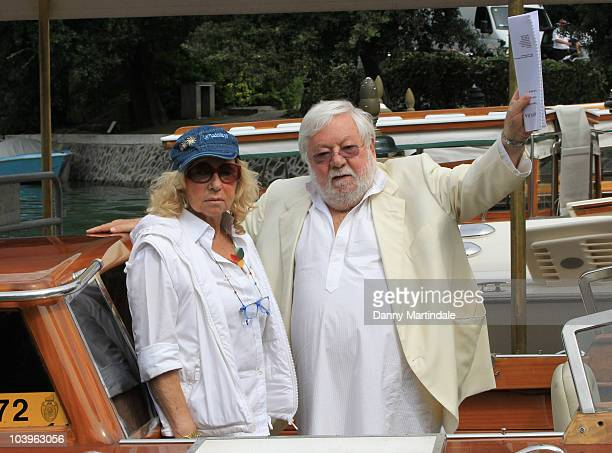 Maura Albites and Paolo Villaggio attend day ten of the 67th Venice Film Festival on September 10 2010 in Venice Italy