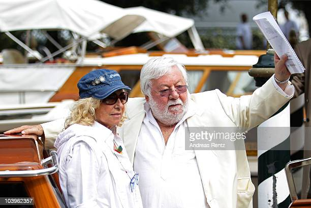 Maura Albites and Paolo Villaggio attends the 67th Venice Film Festival on September 10 2010 in Venice Italy