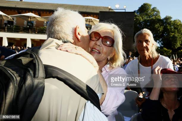 Maura Albites attends the Paolo Villaggio Funeral at Casa del Cinema on July 5 2017 in Rome Italy