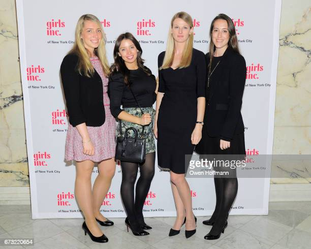 Maura Cassidy Kate Horton Nicola White and Kelly McCarthy at Girls Inc of New York City 2017 Spring Luncheon at Metropolitan Club on April 24 2017 in...