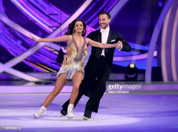 Maura Higgins and Alexader Demetriou during the Dancing On Ice 2019 photocall at ITV Studios on December 09 2019 in London England