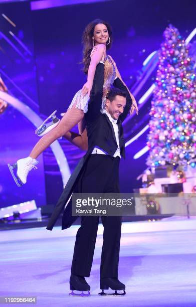 Maura Higgins and Alexander Demetriou during the Dancing On Ice 2019 photocall at the Dancing On Ice Studio ITV Studios Old Bovingdon Airfield on...