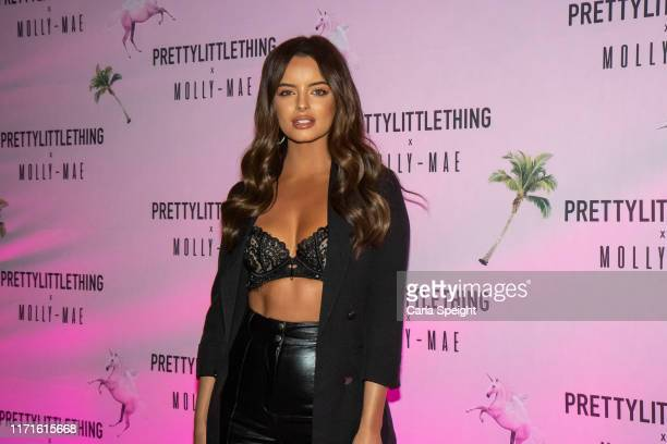 Maura Higgins attends the Pretty Little Thing X MollyMae party at Rosso on September 01 2019 in Manchester England