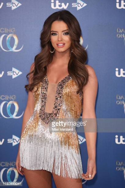 Maura Higgins during the Dancing On Ice 2019 photocall at ITV Studios on December 09 2019 in London England