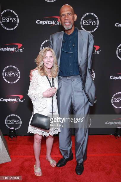 Maura Mandt and Kareem AbdulJabbar attend The 2019 ESPYs at Microsoft Theater on July 10 2019 in Los Angeles California