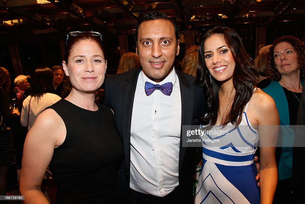 Maura Tierney, Aasif Mandvi and Sheetal Sheth attend the 28th Annual Lucille Lortel Awards After Party on May 5, 2013 in New York City.