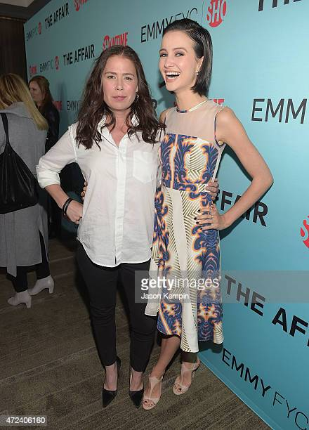 Maura Tierney and Julia Goldani Telles attend a screening for Showtime's The Affair at the Samuel Goldwyn Theater on May 6 2015 in Beverly Hills...
