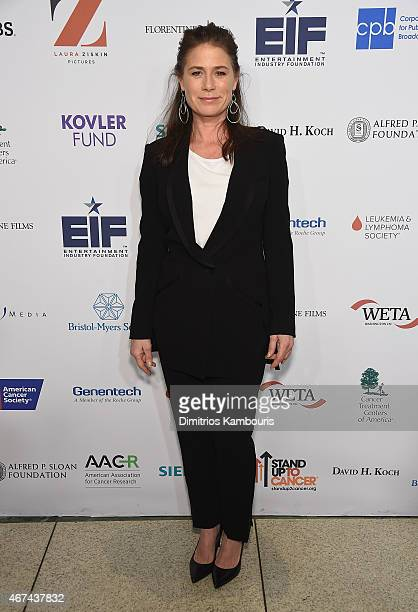 Maura Tierney attends 'Cancer The Emperor of All Maladies' New York Screening at Jazz at Lincoln Center on March 24 2015 in New York City