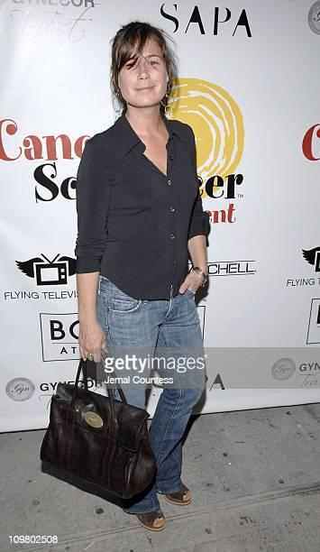 Maura Tierney during Fran Drescher Celebrates Launch of CancerSchmancerorg Presented by Borgata Atlantic City at Sapa Restaurant in New York New York...